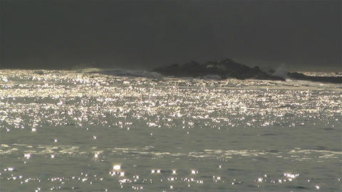 Shiny Reflections and Glares on Sea 1 Stock Video Footage