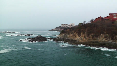 South Mexico Oaxaca Rocky Coast Stock Video Footage