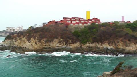 South Mexico Oaxaca Rocky Coast Footage