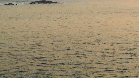 Tropical Ocean in the Sunrise 2 zoom out Stock Video Footage