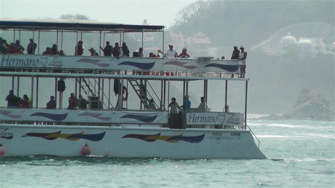 Tropical Paradise in Mexico 10 tourist ship Stock Video Footage