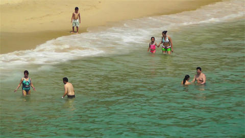 Tropical Paradise in Mexico 12 beach Stock Video Footage