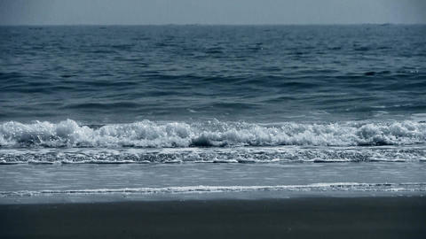 tidal,Ocean waves on the beach Stock Video Footage