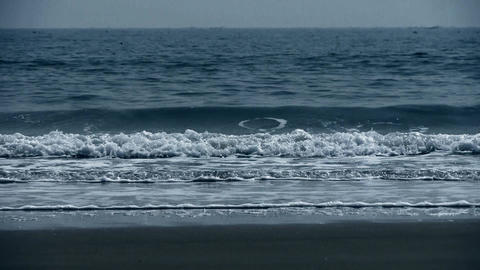 tidal,Ocean waves on the beach Footage