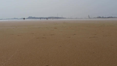panoramic sea beach Footage