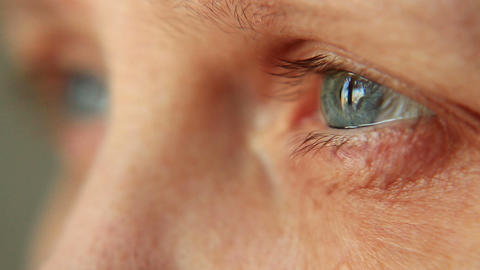 Eye, Selective Focus stock footage