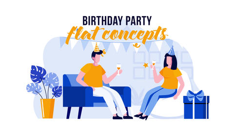 Birthday Party - Flat Concept After Effects Template