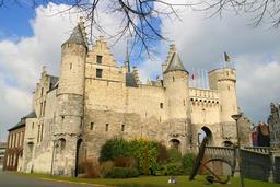 Typical Flemish Architecture in Antwerp Belgium フォト