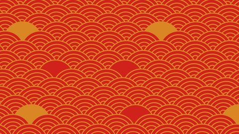日本の和風の背景素材。アジアや和なデザインに合います。ループ背景 CG動画