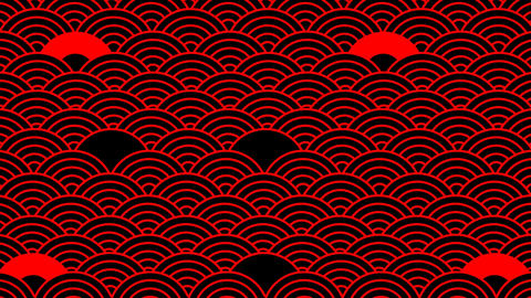 Japanese style background material. Suitable for Asian and Japanese designs. Loop background Animation