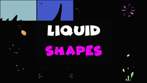 Liquid Shapes After Effects Template
