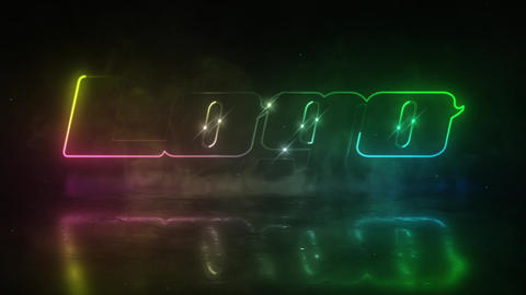 Neon Smoke Logo After Effects Template