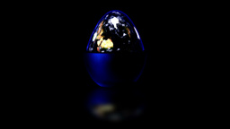Egg Shaped Earth Stock Video Footage