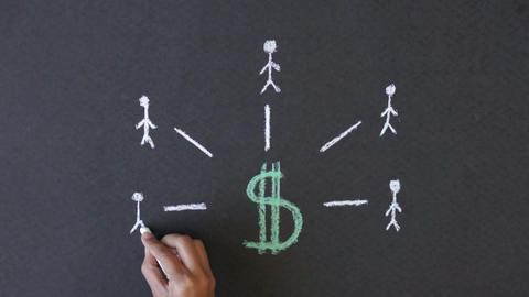 Dollar Sign Chalk illustration Footage