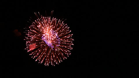 Volleys firework Stock Video Footage