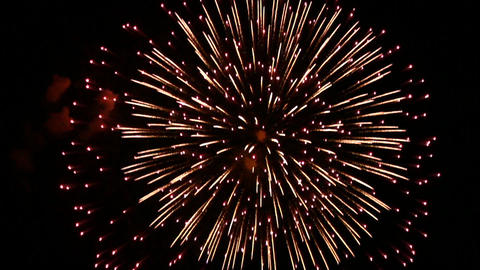 Volleys firework Footage
