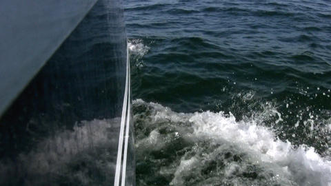 Wave stern Stock Video Footage