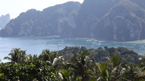 View of the island Stock Video Footage