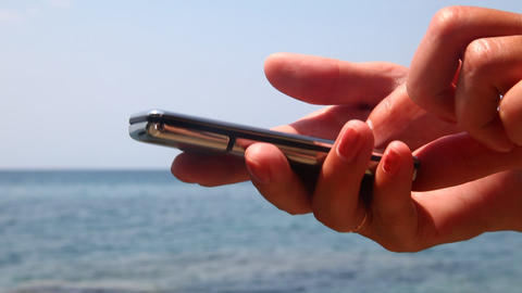 Cell phone in hand Stock Video Footage