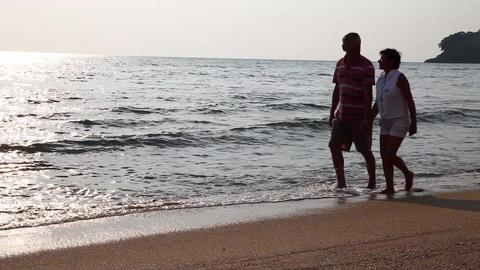 Сouple on beach Footage