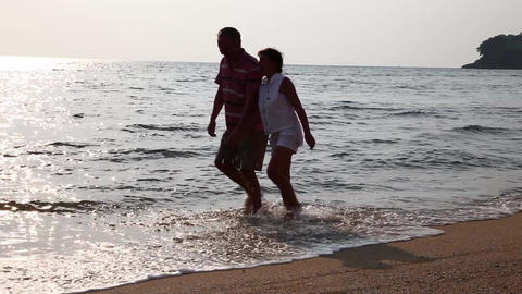 Сouple on beach Stock Video Footage
