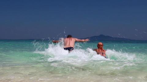 Сouple on beach Stock Video Footage