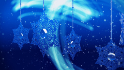 Animated Background With Snowflakes And Particles Of Snow stock footage