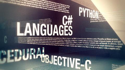 Programming Languages Related Words Loop Stock Video Footage