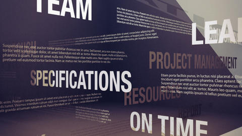 Project Management Related Terms Stock Video Footage
