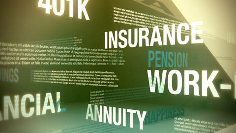 Retirement Related Words Background Loop Stock Video Footage