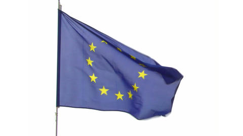 flag EU Stock Video Footage