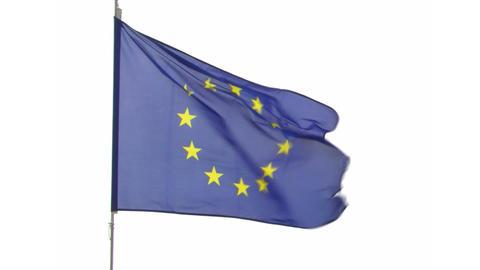flag EU Stock Video Footage