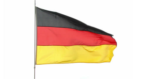 flag Germany Stock Video Footage