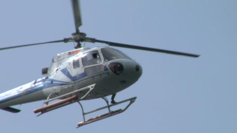 helicopter AS close up Stock Video Footage