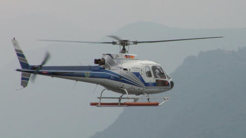 helicopter AS hover Stock Video Footage
