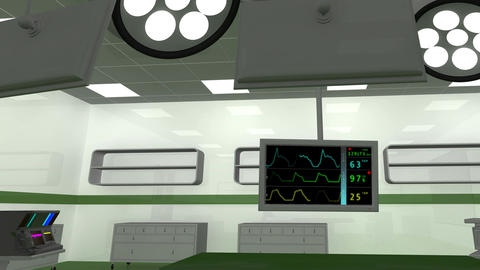 4 K Operation Room EKG Monitor 5 Animation