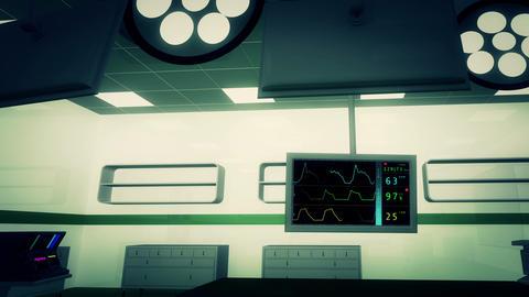 4 K Operation Room EKG Monitor 7 Stock Video Footage
