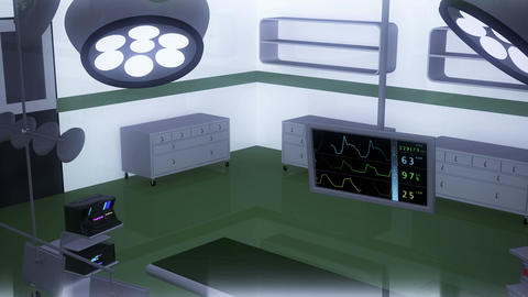 4 K Operation Room EKG Monitor 9 Stock Video Footage