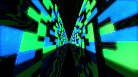 Futuristic Data Center 2 Stock Video Footage