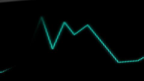 Operation Monitor Flat Signal Macro 2 Stock Video Footage