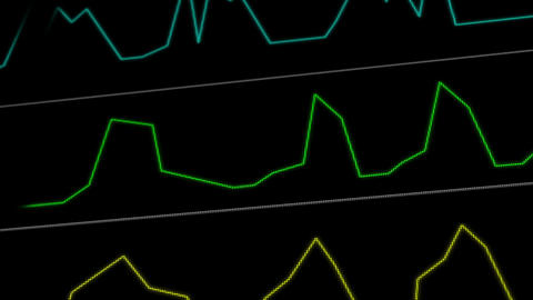 Operation Monitor Flat Signal Macro 4 Stock Video Footage