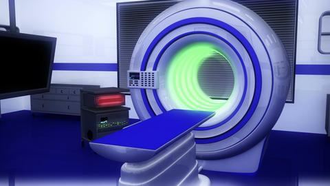 Operation Room MRI CT Machine 19 Stock Video Footage