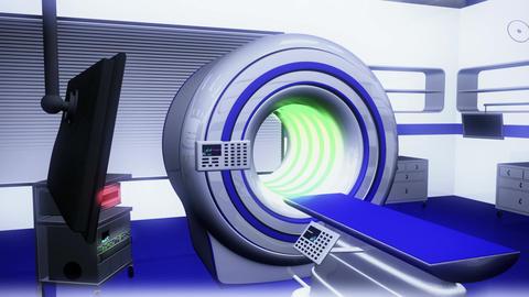 Operation Room MRI CT Machine 21 Stock Video Footage