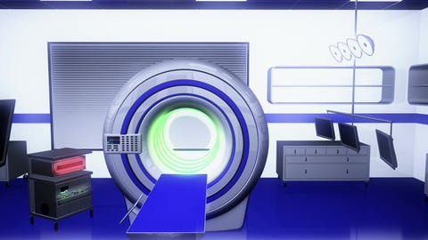 Operation Room MRI CT Machine 21 Animation