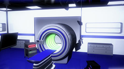 Operation Room MRI CT Machine 21 Stock Video Footage