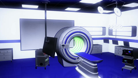 Operation Room MRI CT Machine 23 Stock Video Footage