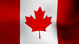 Canada flag Animation