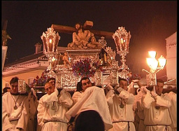 Procession in spanish holy week Footage