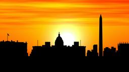 Washington skyline timelapse sunset Animation