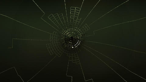 Cracked and Shattered black glass with slow motion. Alpha... Stock Video Footage